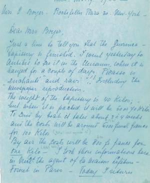 Carta de Nelly Van Doesburg a Louise A. Boyer del 19 de noviembre de 1955