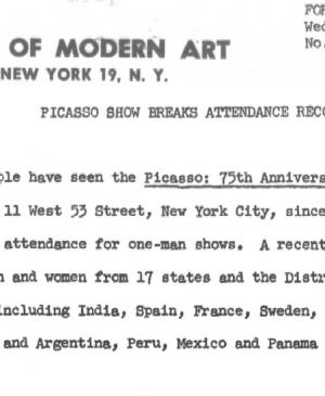 Picasso show breaks attendance records