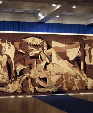 Tapestry replica of  Guernica