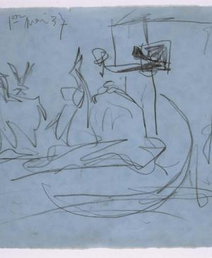 Composition Study [I]. Sketch for  Guernica