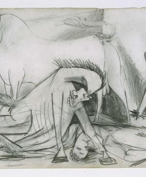 Composition Study [VI]. Sketch for Guernica