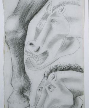 Studies for the Horse. Sketch for Guernica
