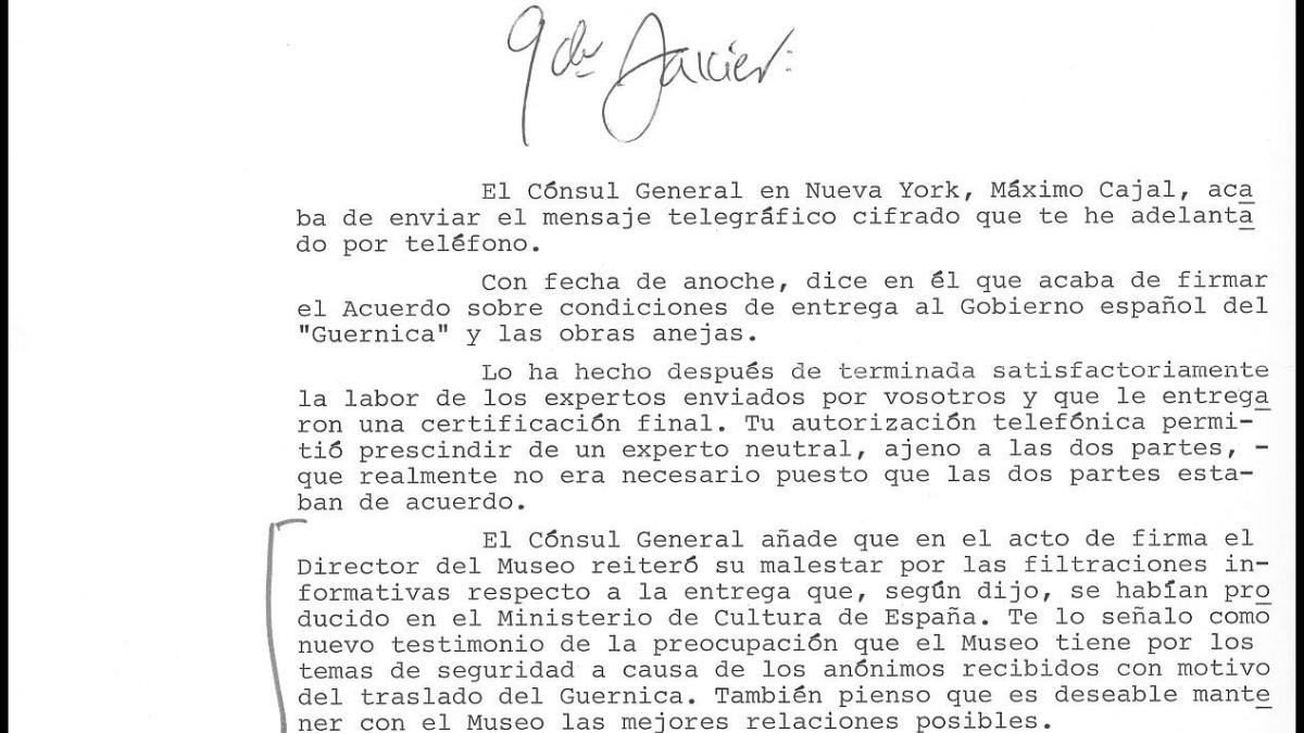 Carlos Robles Piquer's letter to Javier Tusell, dated 3 September